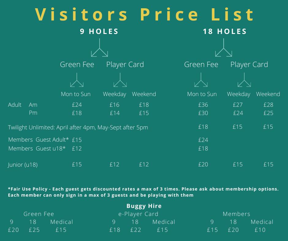 Princes Risborough Golf Club Green Fees